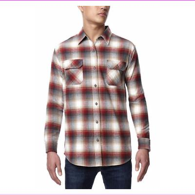 mens flannel button up long sleeve shirt