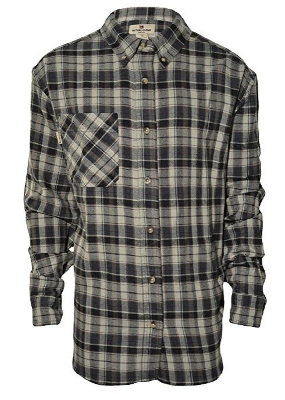 mens flannel long sleeve button down shirt