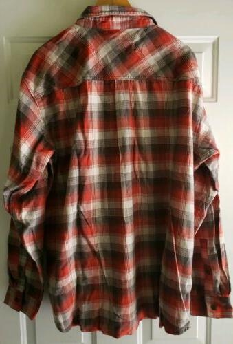 Columbia Mens Shirt Plaid Red Black NWT