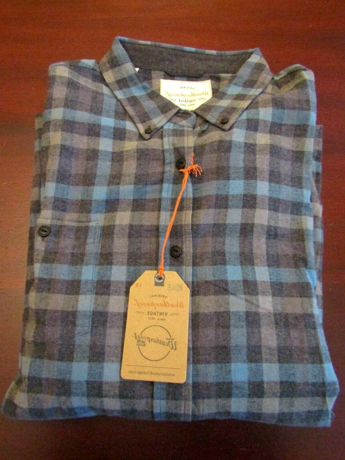 mens flannel shirt 3xl nwt copen blue