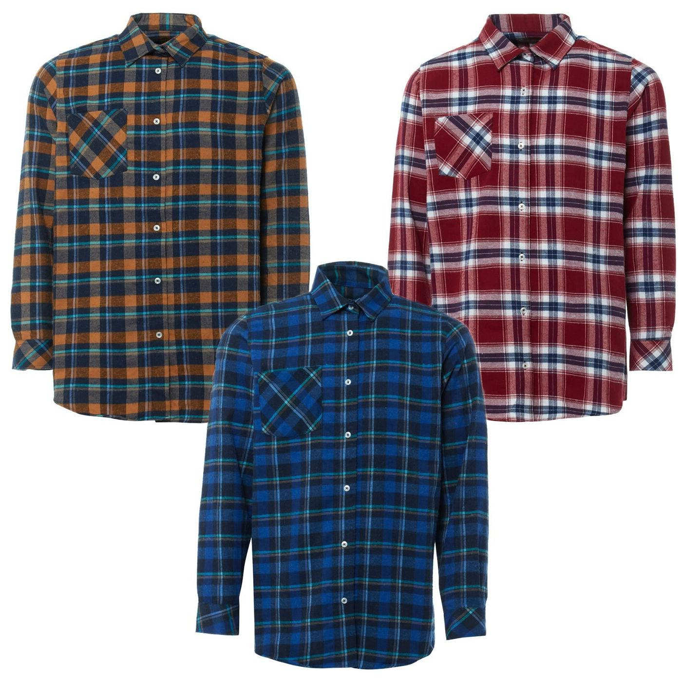 Mens Flannel Brushed Warm Work Shirts