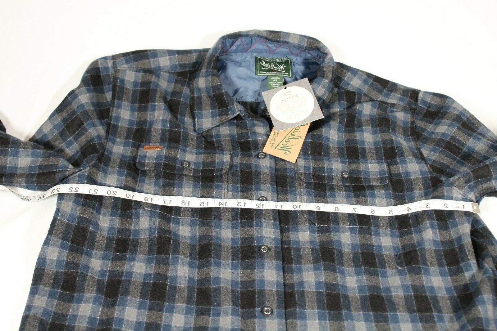 Woolrich Plaid Size L Sleeves Black
