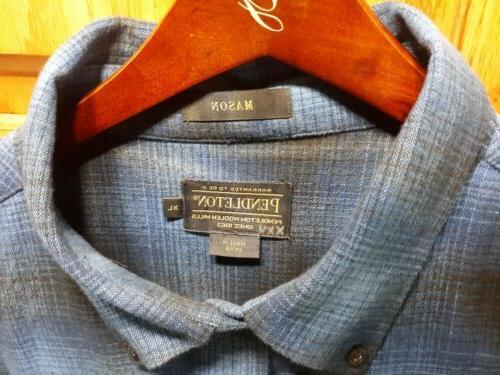 Mens Flannel Size XL Blue