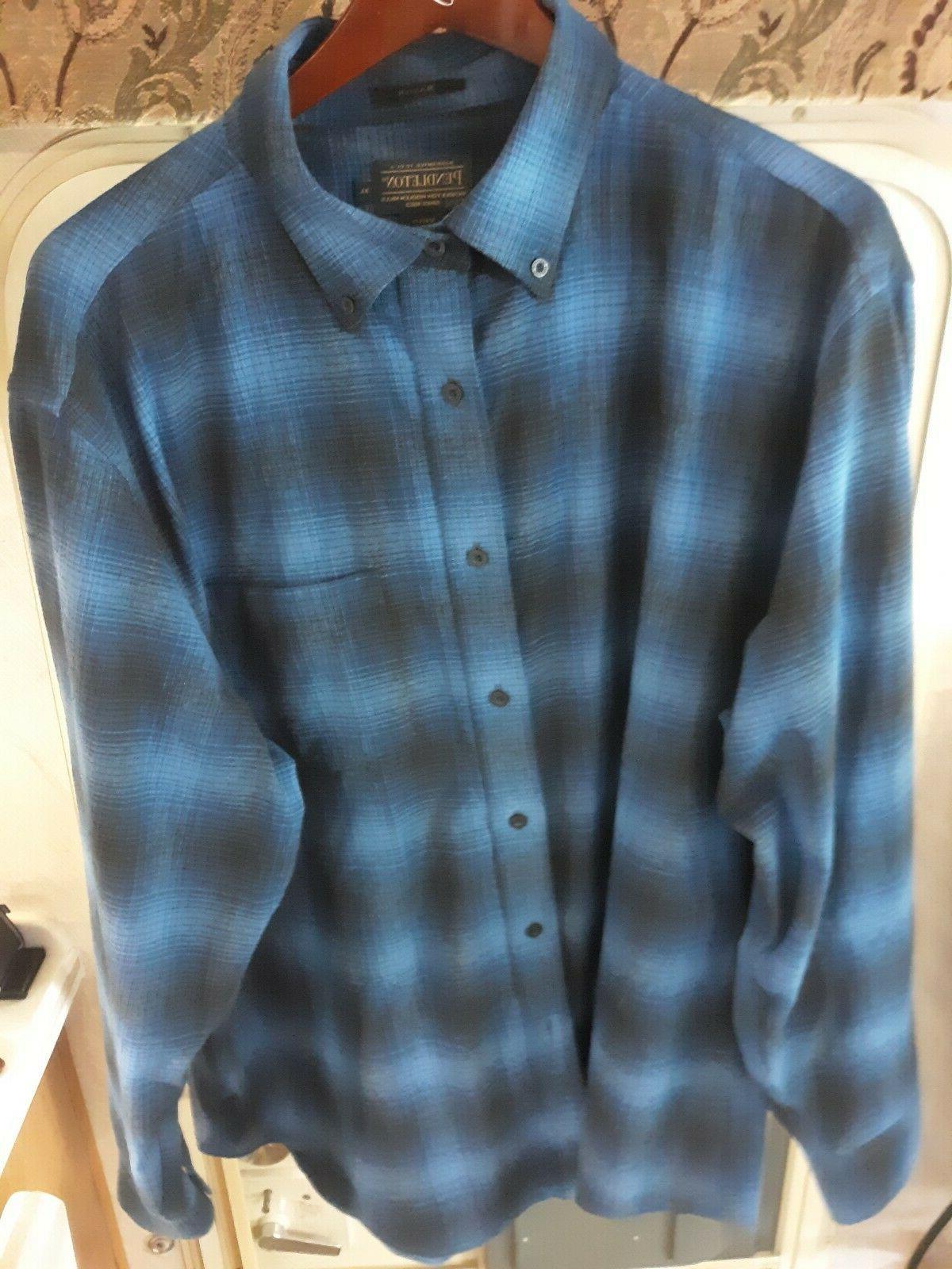 mens flannel shirt size xl mason blue