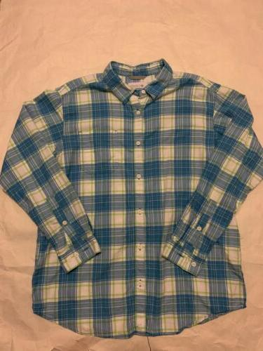 Mens Columbia Flannel XL 3 Long