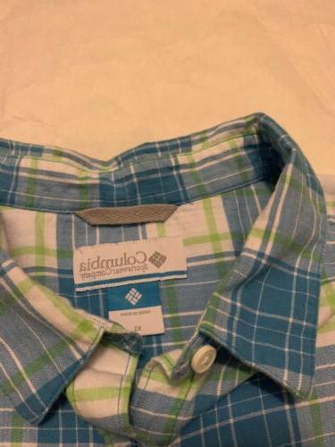 Mens Columbia Shirt XL 3 Shirt Long