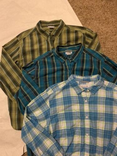 mens flannel shirt xl 3 shirt bundle