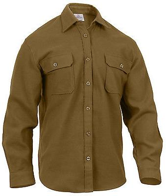 Mens Flannel Long Sleeve Brown Rothco 4761