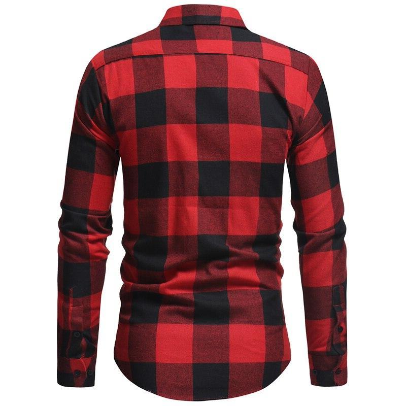 Mens <font><b>Flannel</b></font> Camisa Masculina Autumn <font><b>Shirt</b></font> Men Business Casual <font><b>Shirts</b></font>
