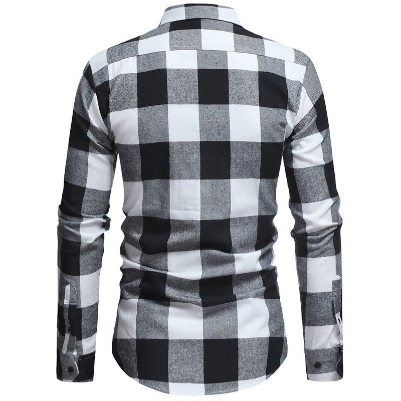 Mens Plaid Camisa Autumn Dress <font><b>Shirt</b></font> Men Casual <font><b>Shirts</b></font> with