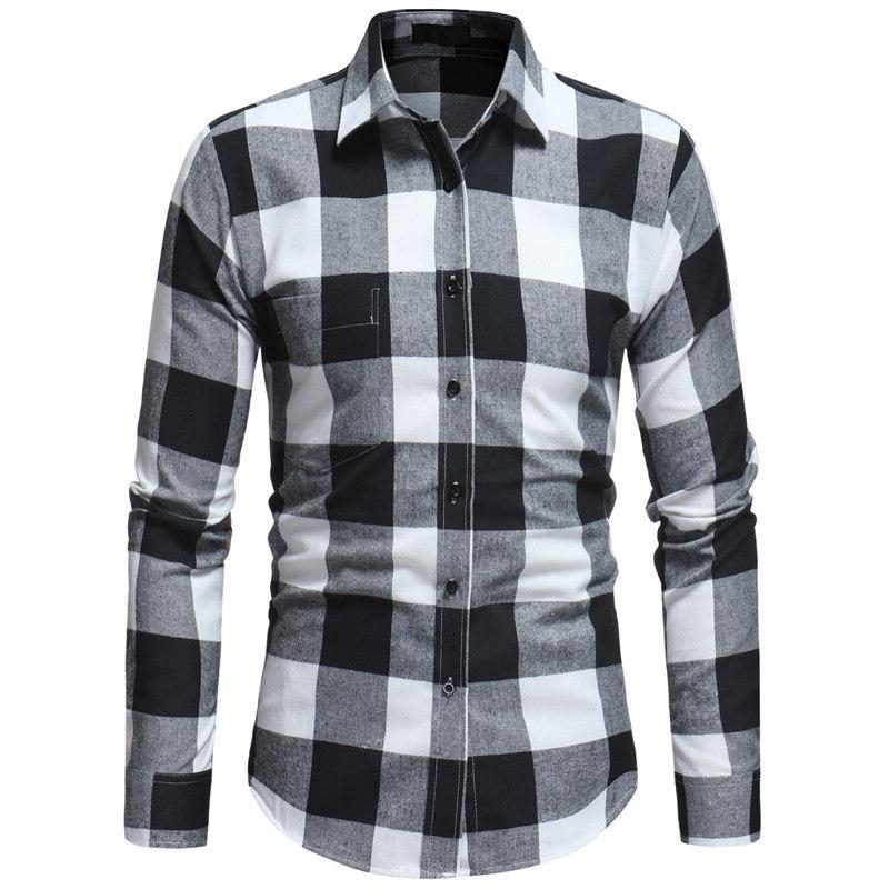 Mens Camisa Masculina Spring Autumn Sleeve <font><b>Shirt</b></font> Casual with