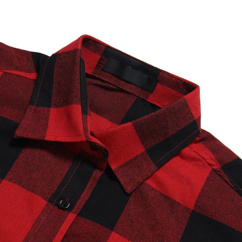 Mens <font><b>Flannel</b></font> Camisa Masculina 2018 Spring Autumn Long <font><b>Shirt</b></font> Casual <font><b>Shirts</b></font> with Pocket