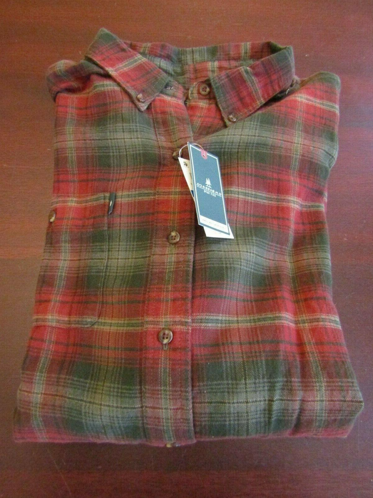 mens g h bass flannel shirt xl
