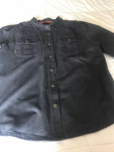 Legendary Whitetails Mens Journeyman Rugged Shirt Jacket Tar