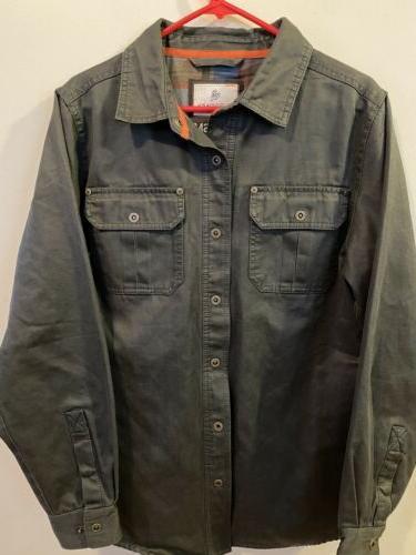 mens journeyman shirt jacket flannel lined gray