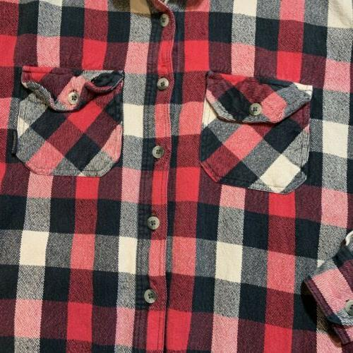 Legendary Mens Large Classic Long Flannel Red