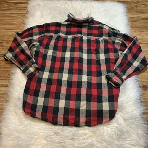 Legendary Whitetails Mens Classic Sleeve Flannel Red Plaid