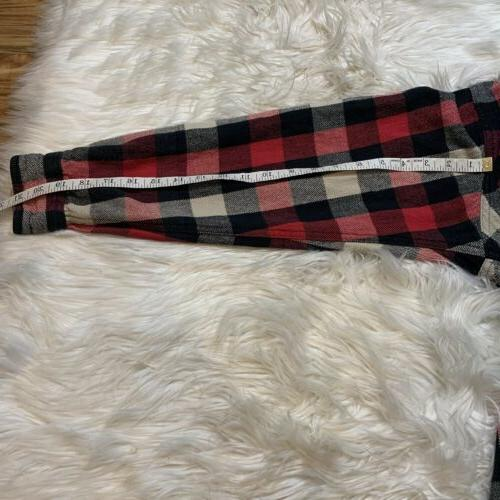 Legendary Whitetails Mens Classic Sleeve Flannel Red
