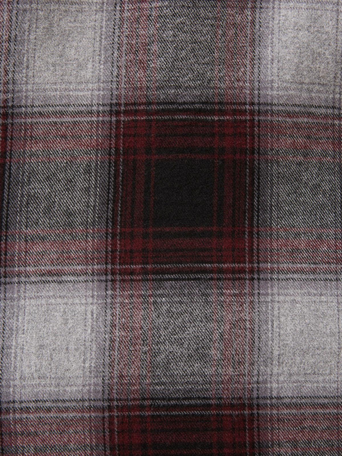 George Large Sleeve Burgundy Combo Shirt New