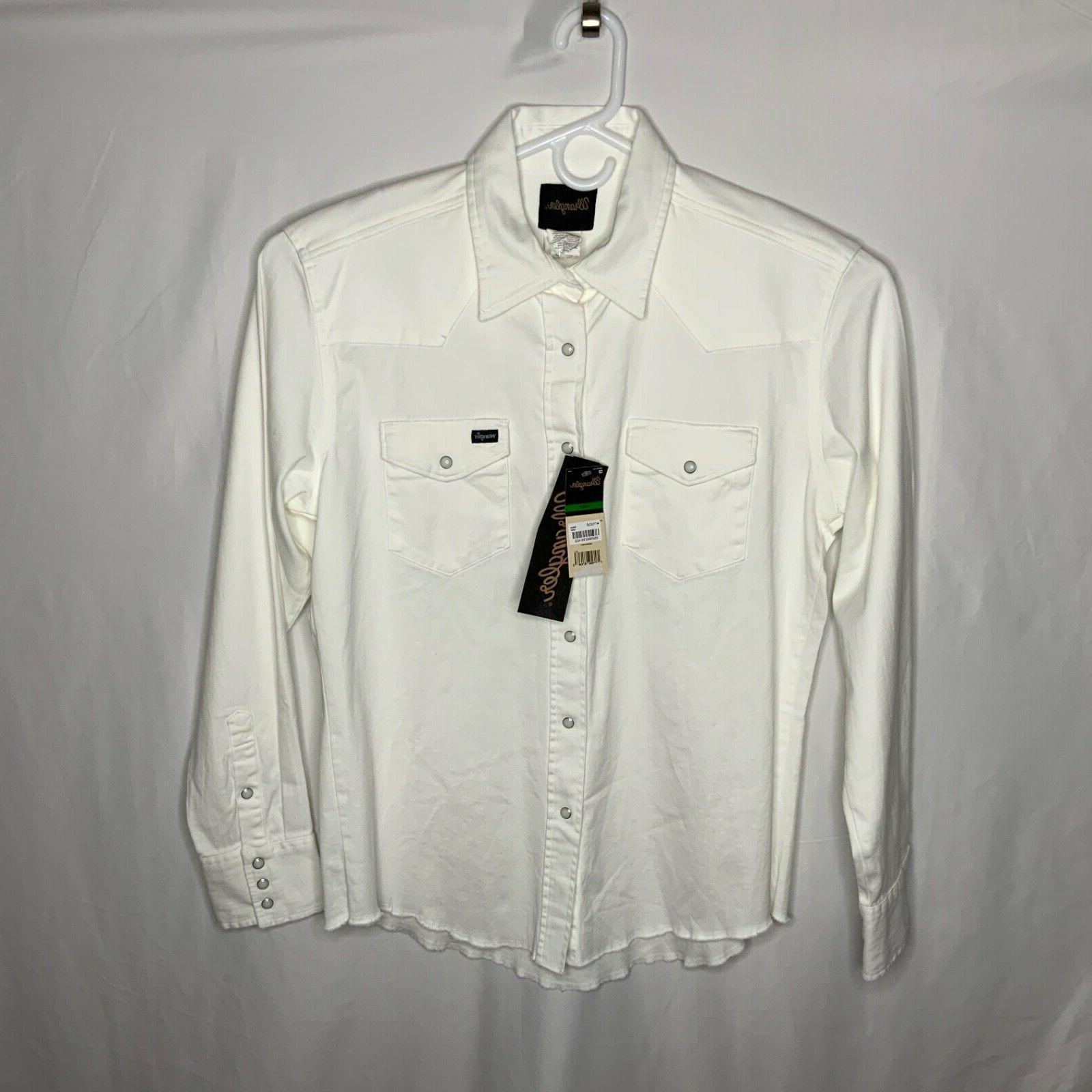 Wrangler Men's Pearl Sleeve Flannel NEW