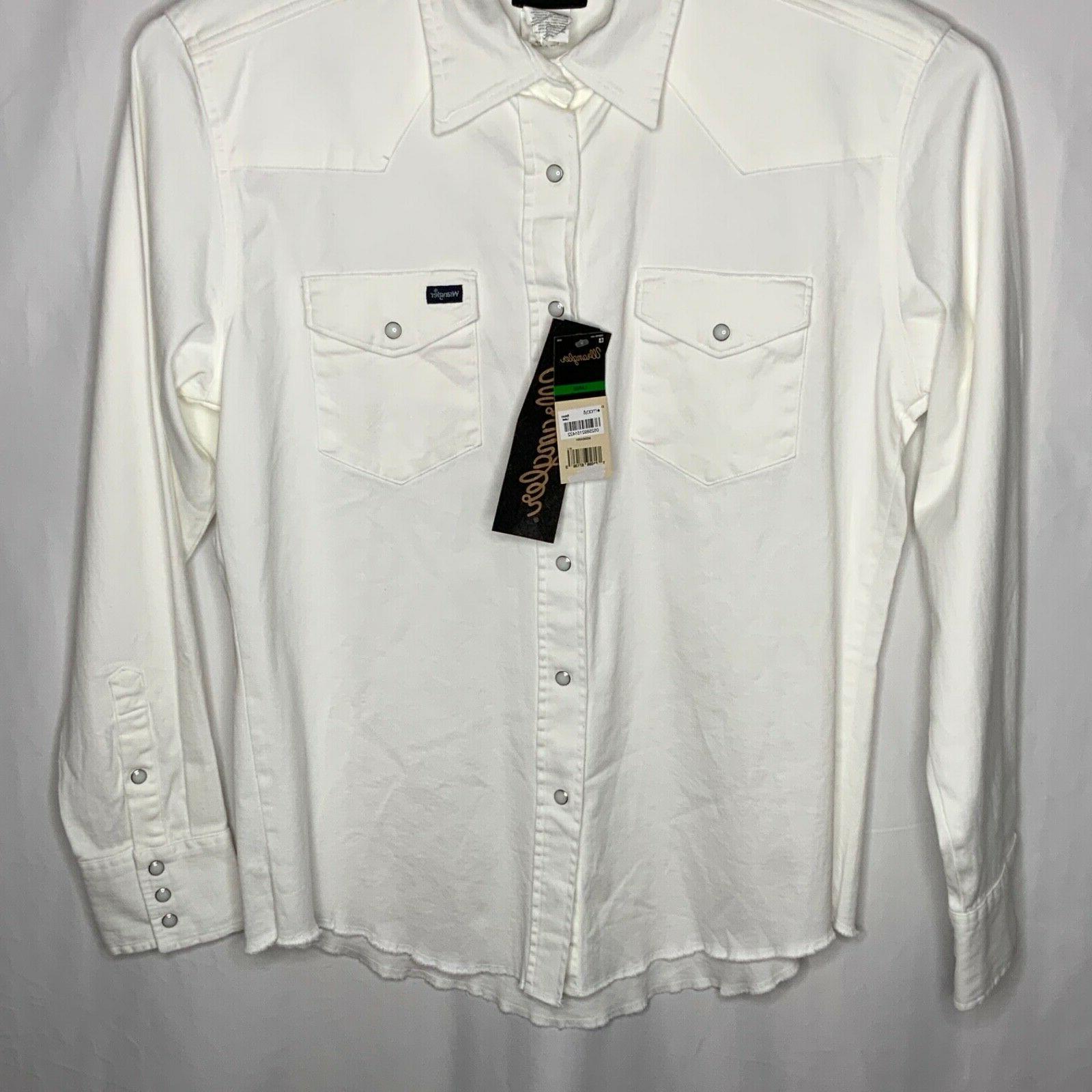 Wrangler Men's Pearl Snap Western Sleeve
