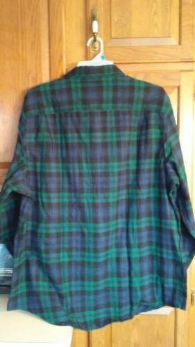 Mens George Long Sleeve Button Tartan Plaid Shirt 3XL