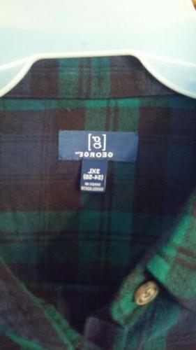 Tartan Plaid Flannel Shirt 3XL
