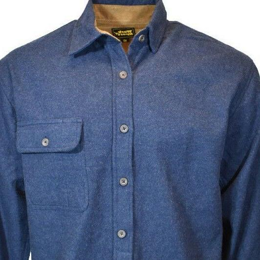 Work Long Flannel Up Down Shirt Cotton