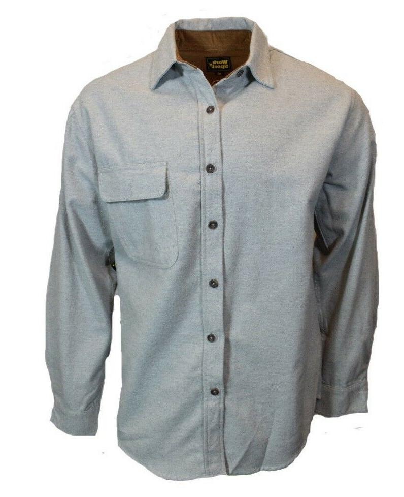 mens long sleeve flannel button up down