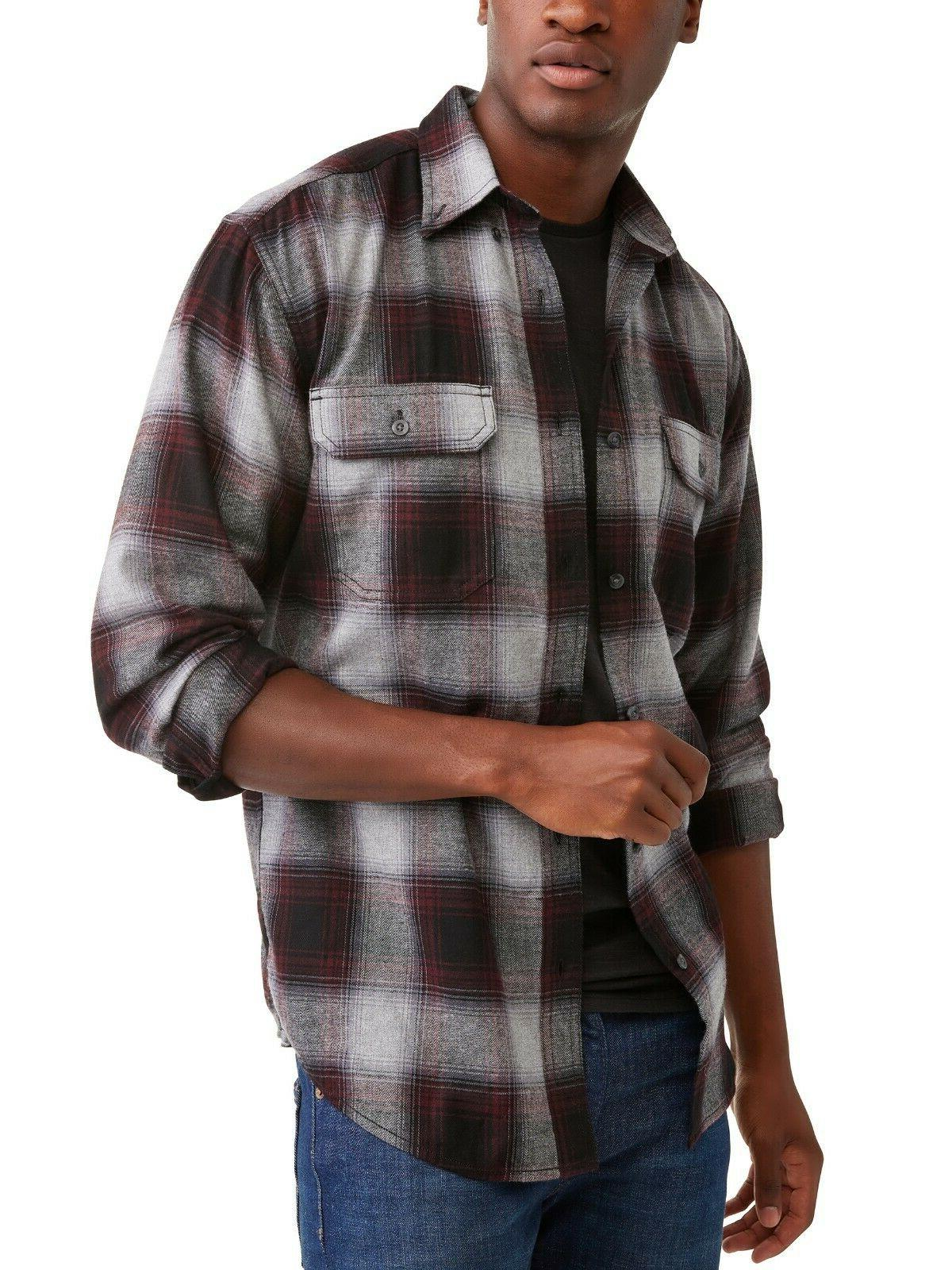 George Long Flannel Gray/Maroon M