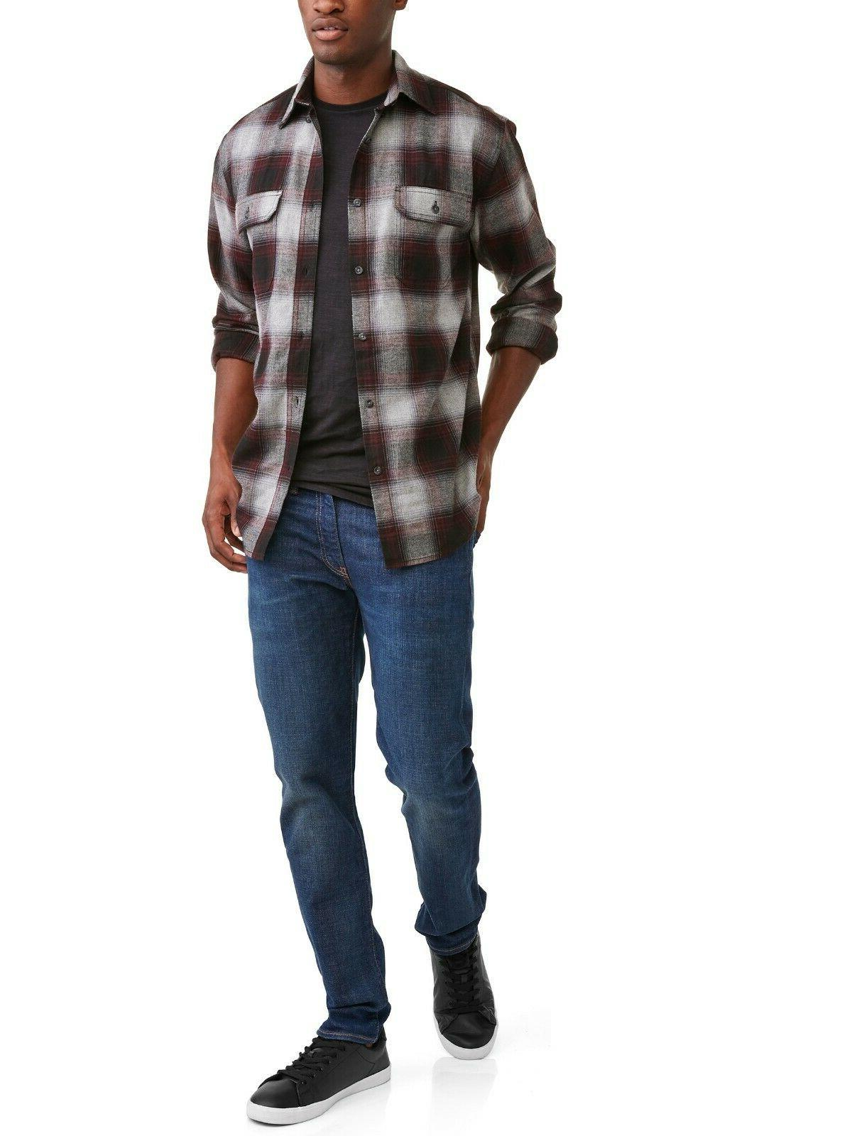 George Flannel Gray/Maroon