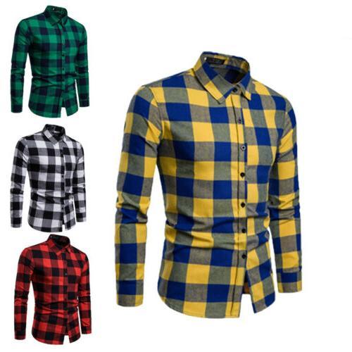 mens long sleeve formal shirt work tops