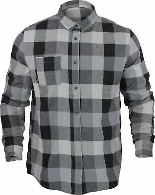 mens motherfly flannel shirt gray heather