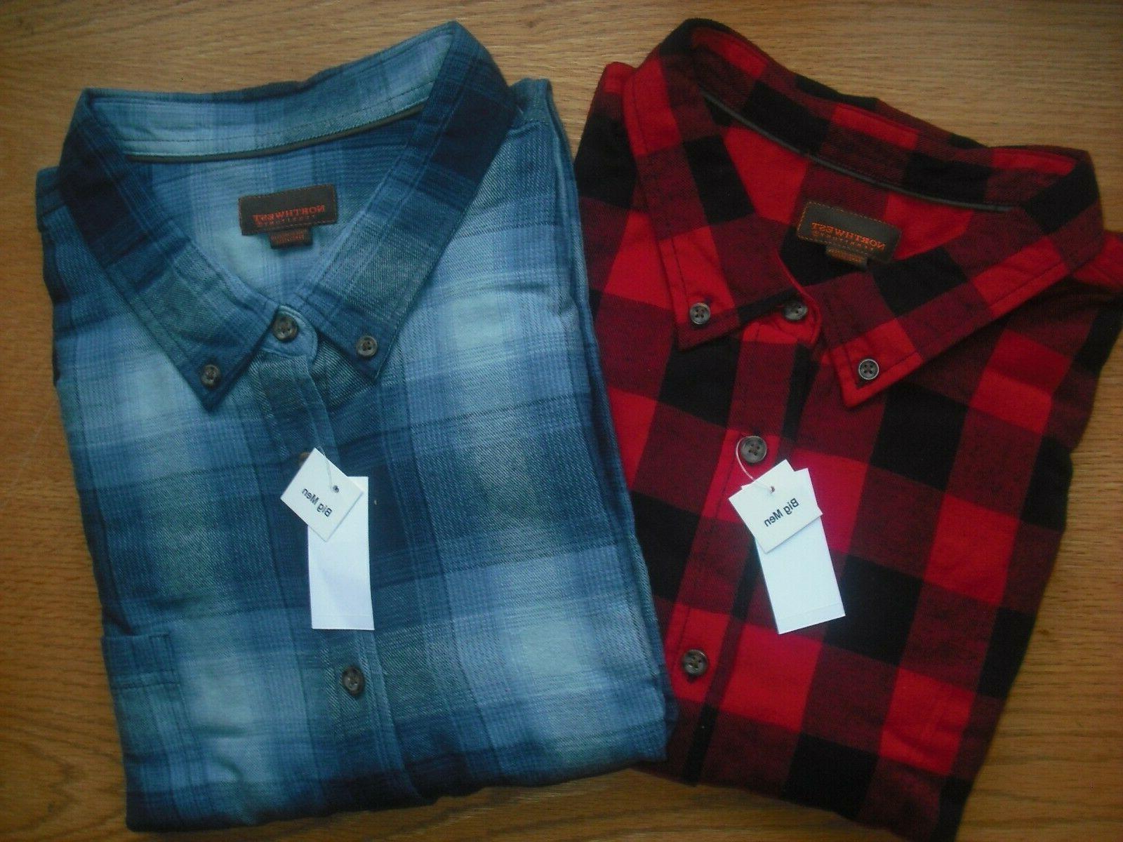 mens nwt flannel shirts set of 2