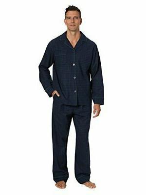 mens pajama set 100 percent cotton flannel