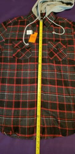 Mens Long Sleeves Button Front Check size