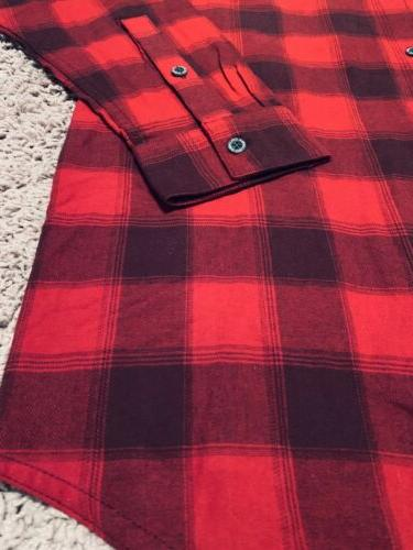 Men's Black Cotton Flannel TALL