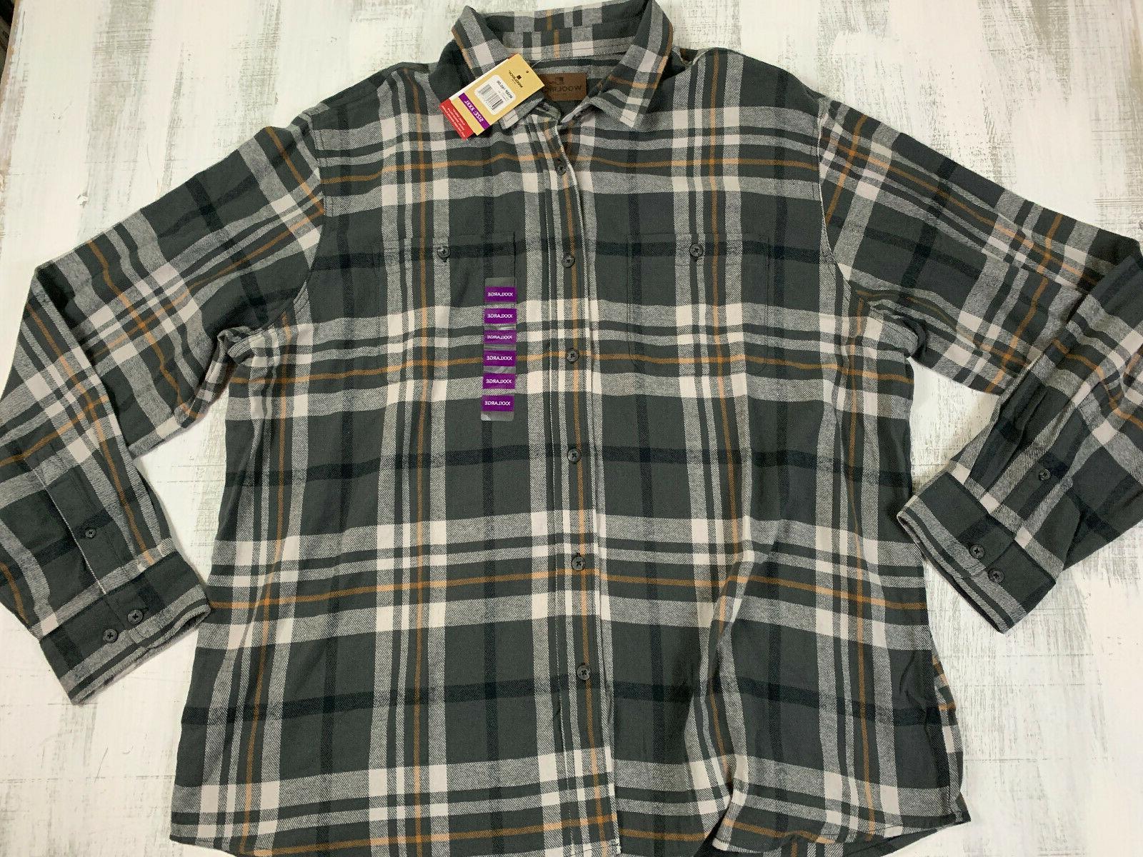 mens shirt size 3xl augusta flannel stormwatch