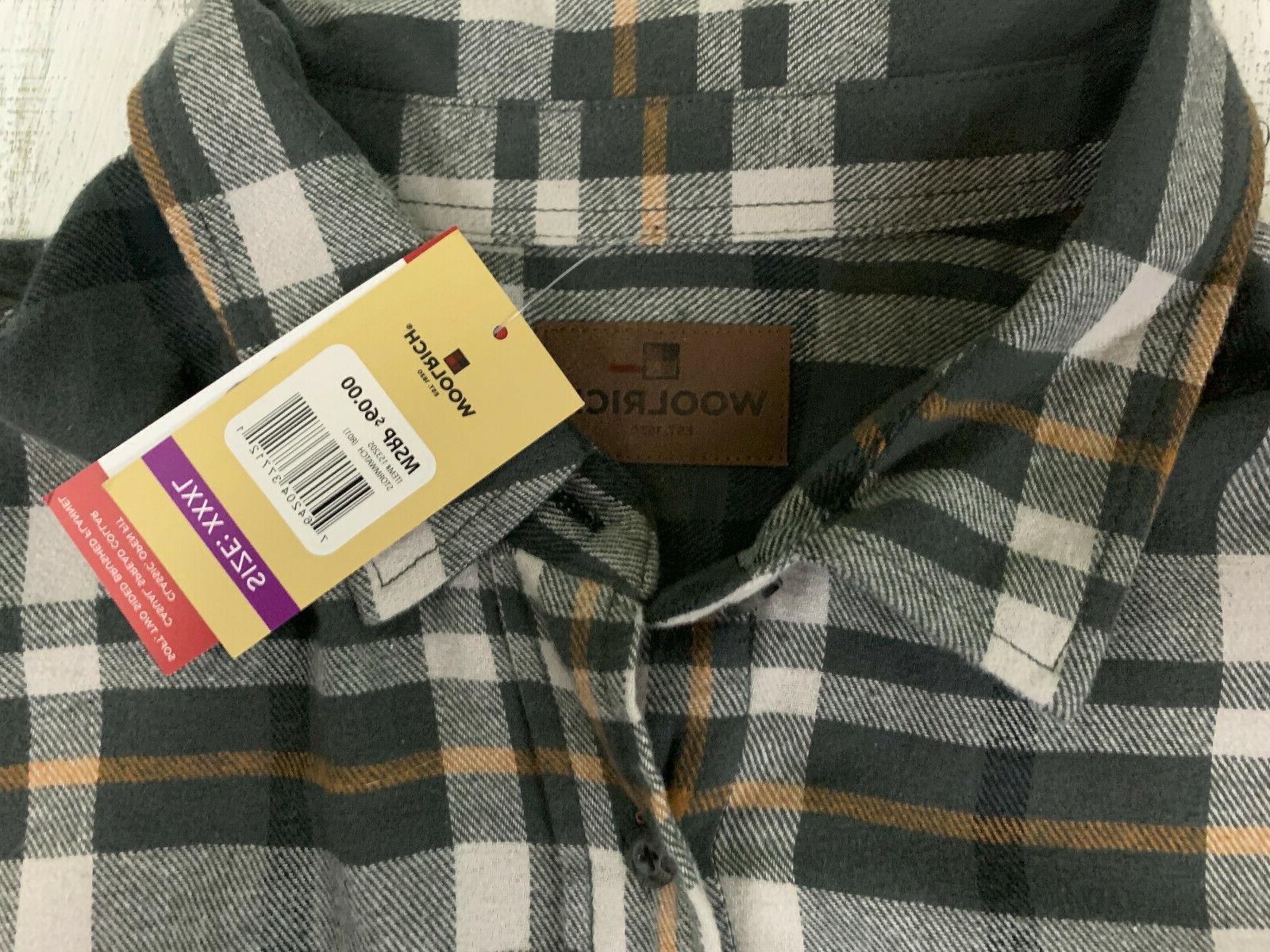 Woolrich Mens 3XL Gray orange cotton