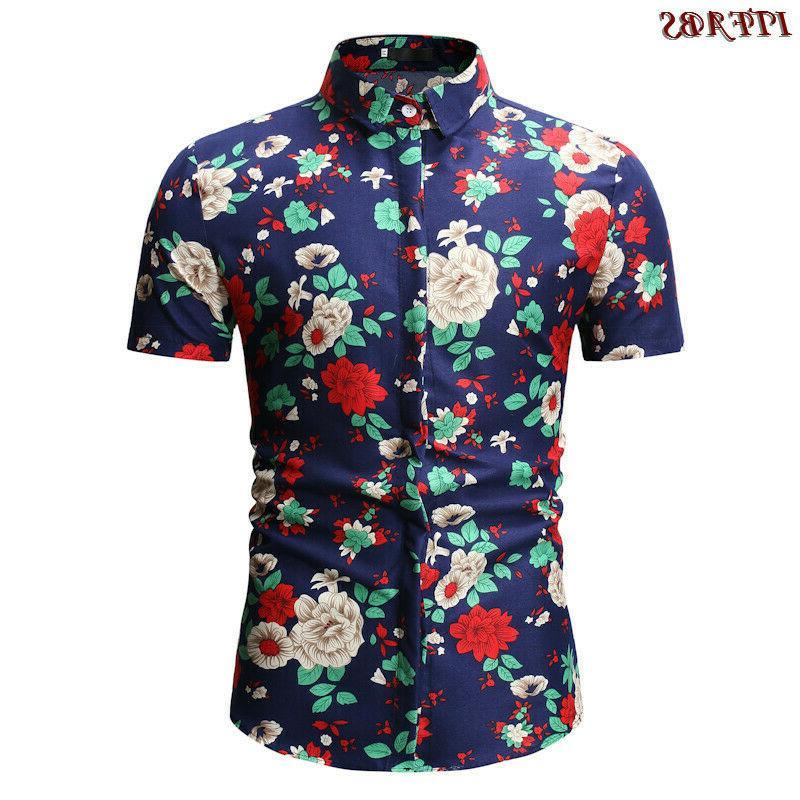 Mens Short Sleeve <font><b>Flannel</b></font> Casual Luxury Cotton Plaid <font><b>Shirt</b></font> Tops