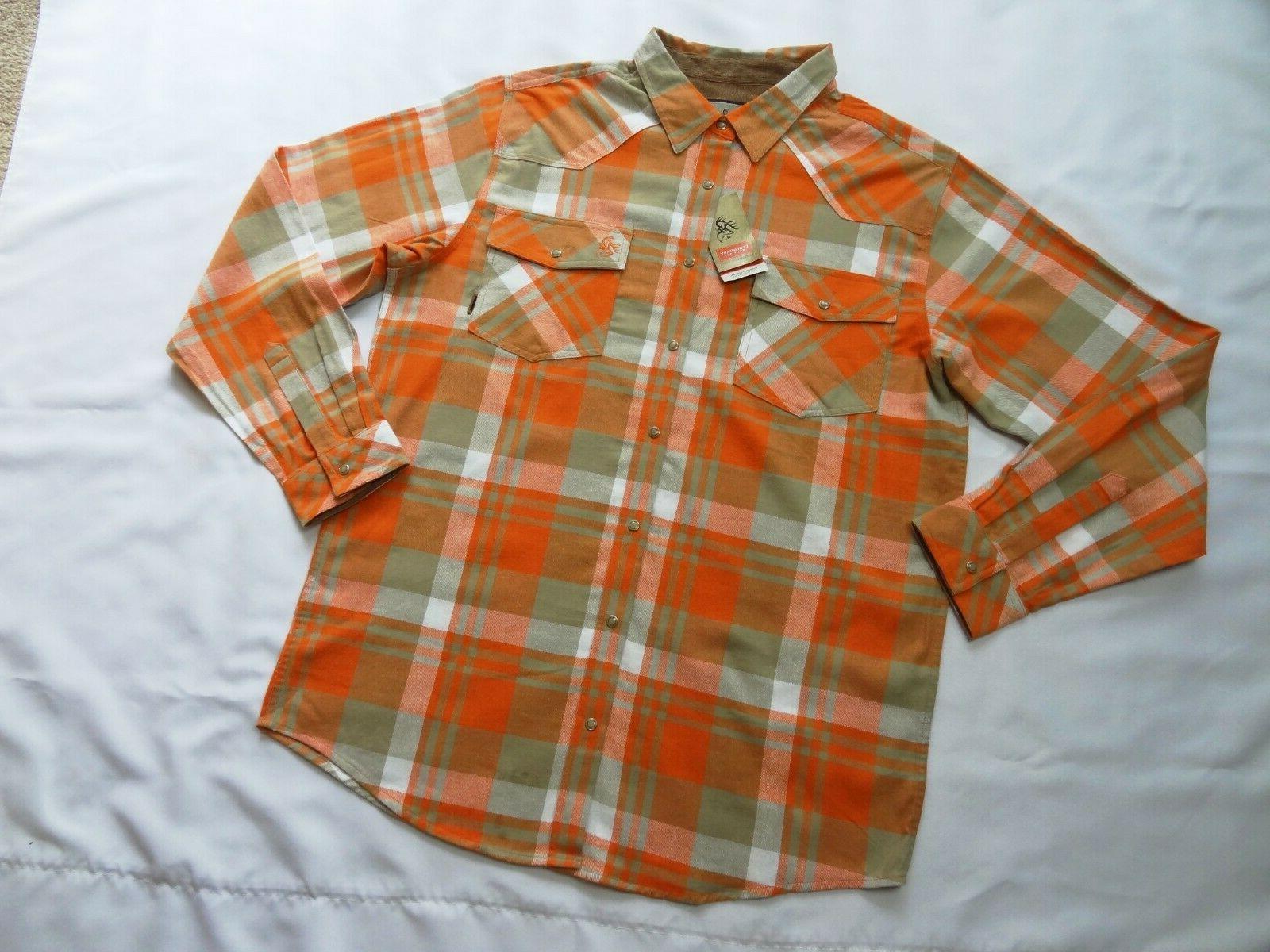 mens shotgun western flannel shirt xlt xl