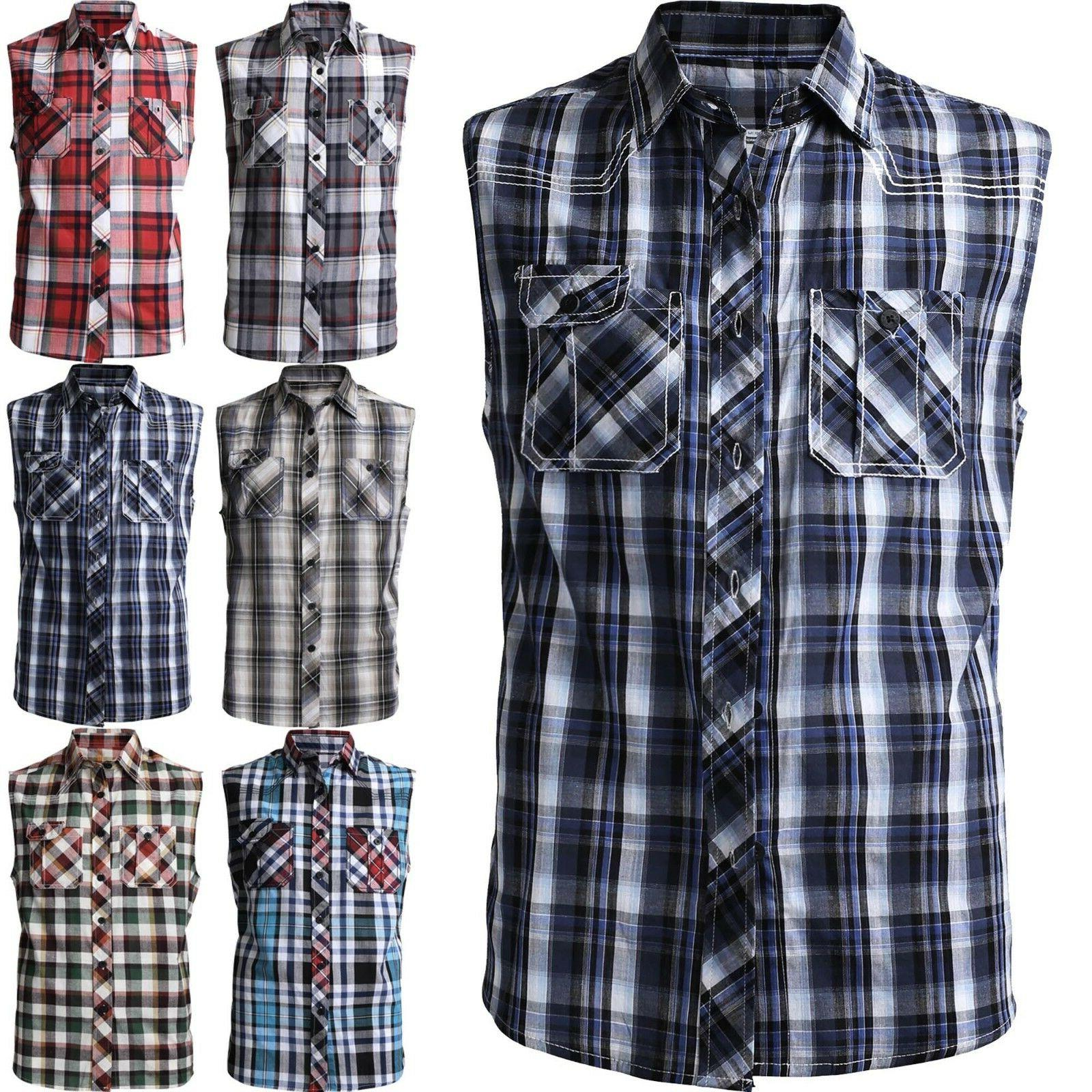 mens sleeveless dress shirts button down slim