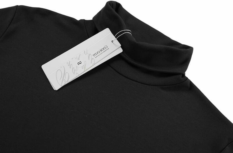 COOFANDY Mens Slim Basic Thermal Turtleneck Shirts Casual Knitted