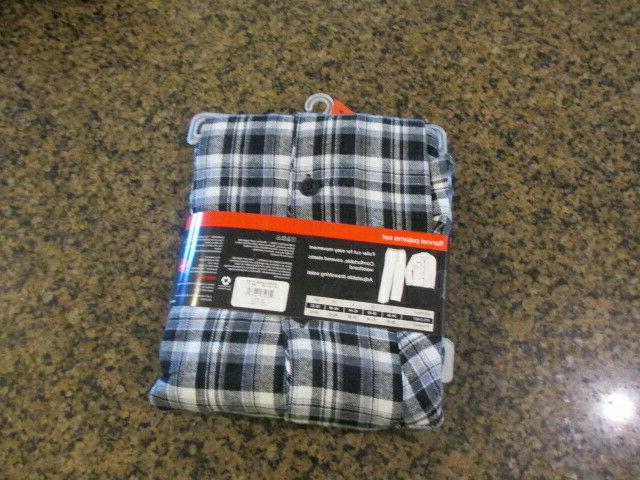Hanes Mens Small Pajama Long Sleeve Plaid shirt NWT