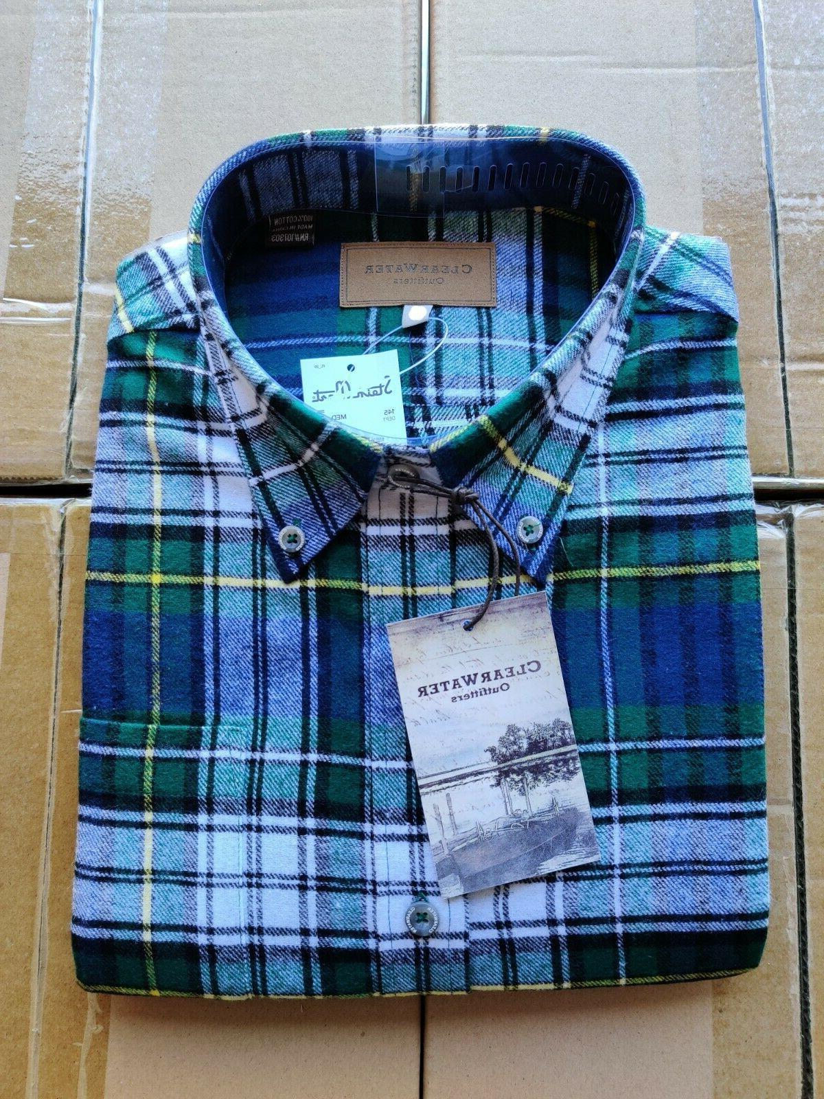 Mens Soft Cotton Flannel Long Up | Men's M XL