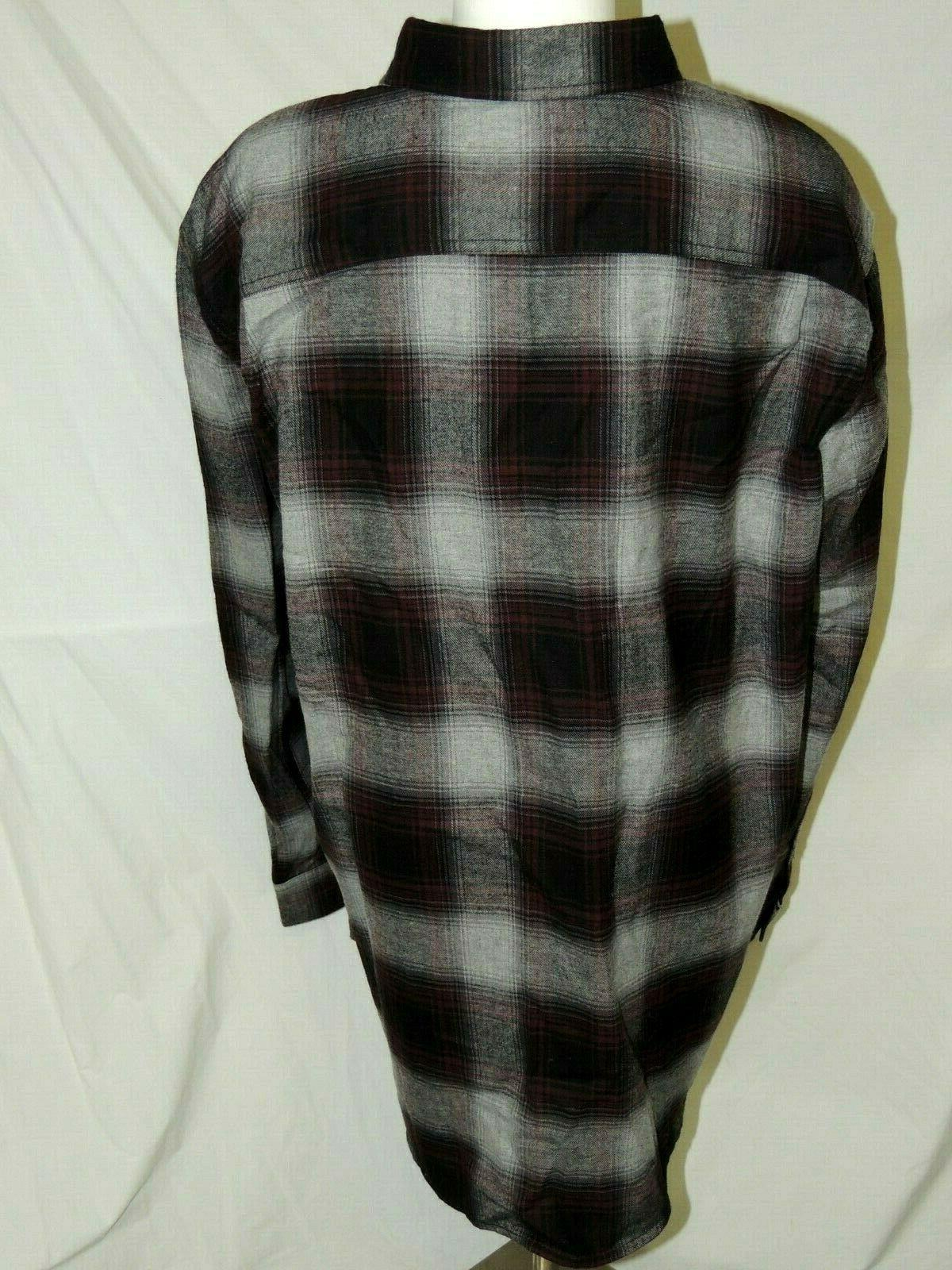 Mens Button Plaid Shirt XL