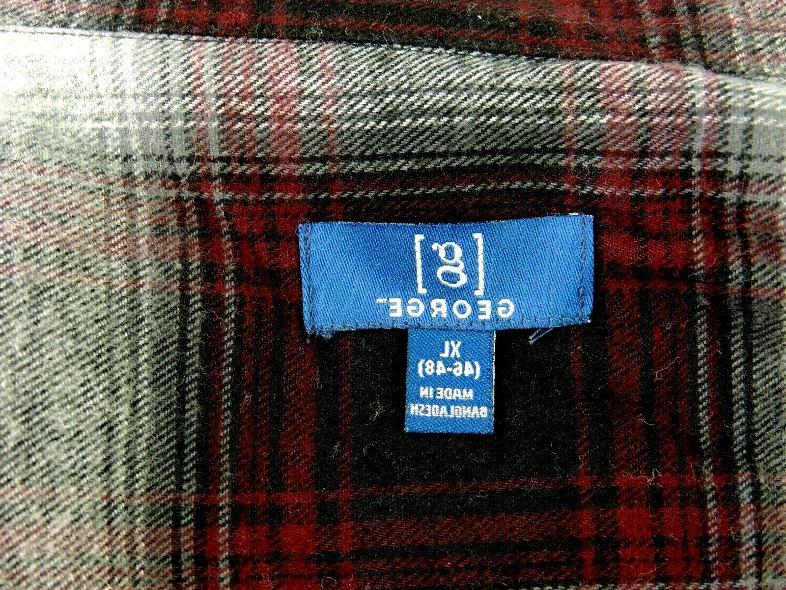 Mens Button Plaid Shirt 46-48 XL