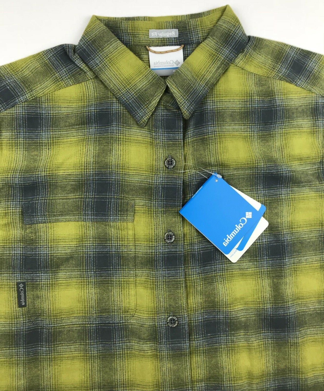 Columbia Mens Green Yellow Plaid