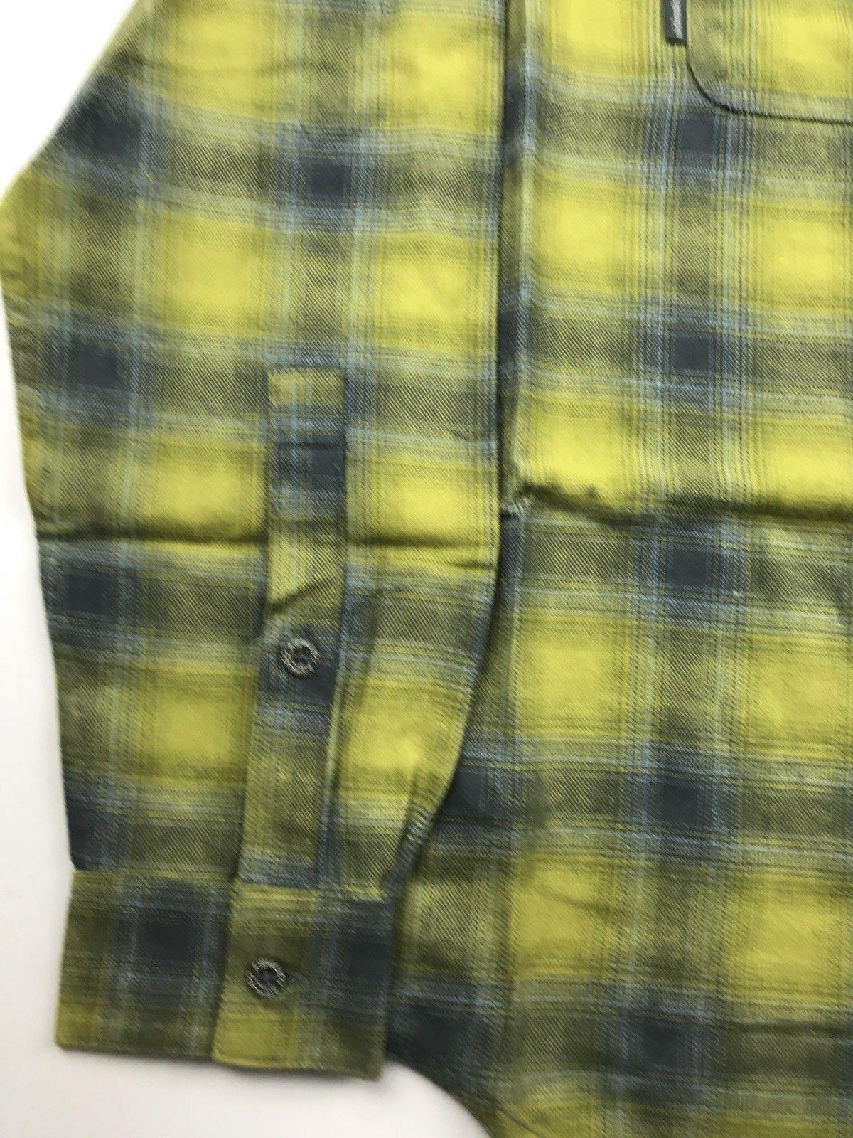 Columbia Mens XL Green Yellow Brushed Flannel