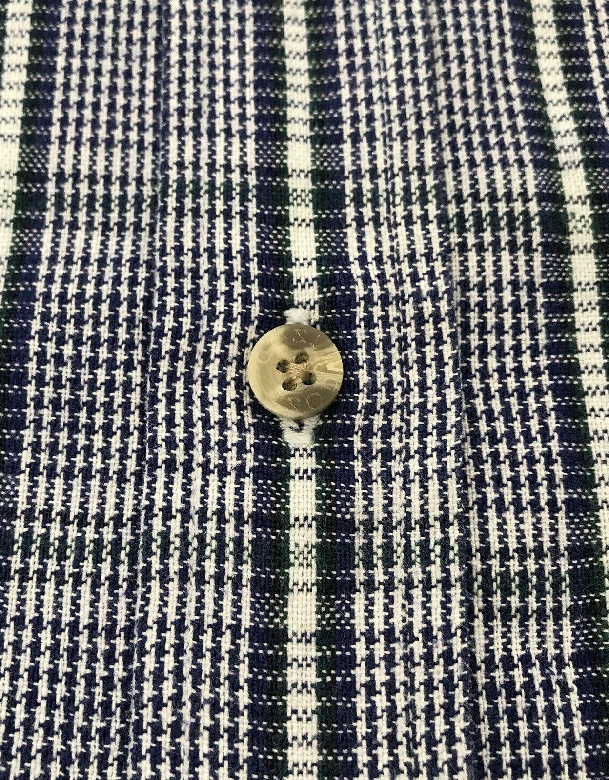 Izod Mens xl Sleeve ls Flannel shirt Green Plaid euc D14